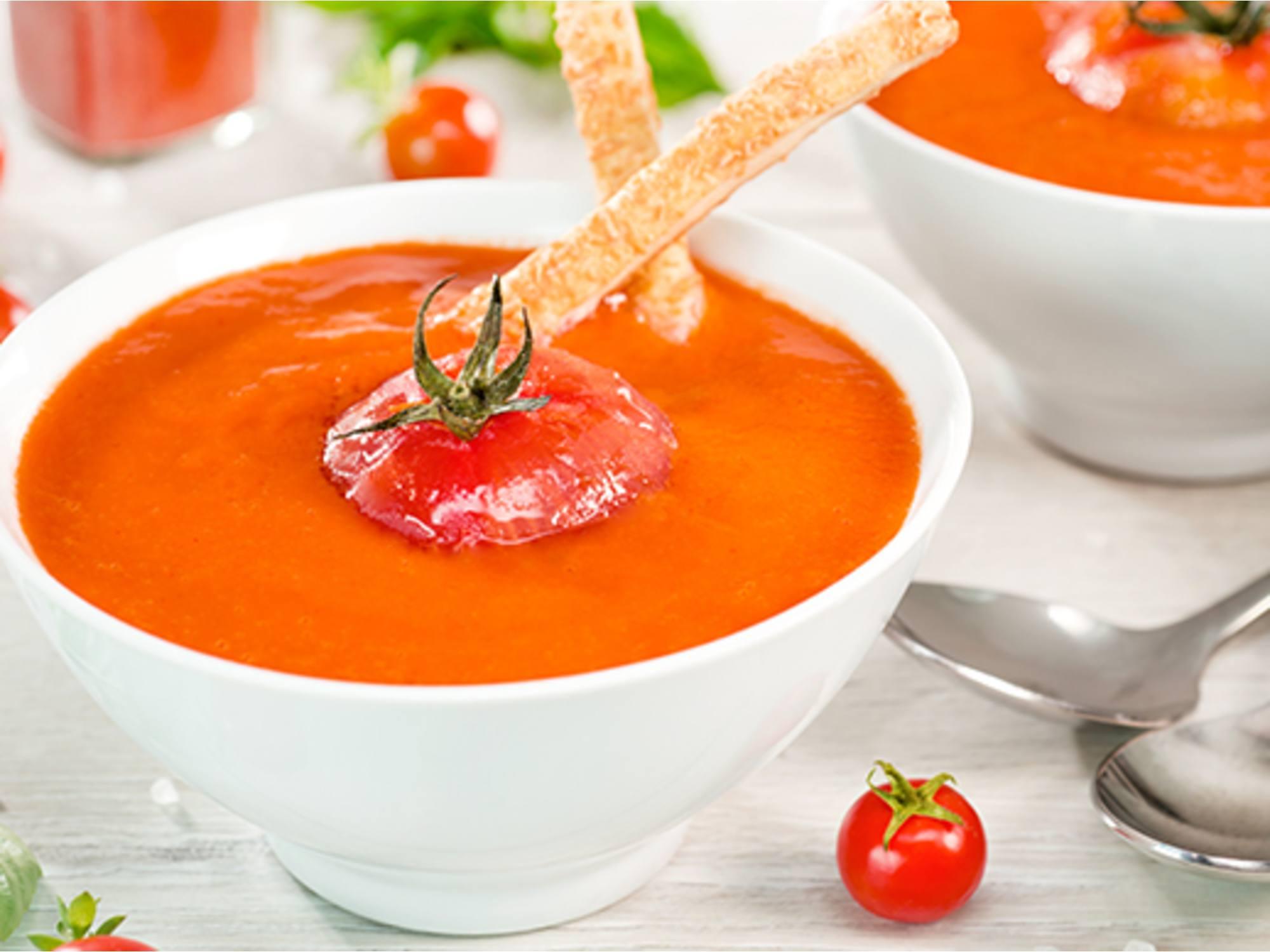 Gazpacho con salsa de tomate Fruco