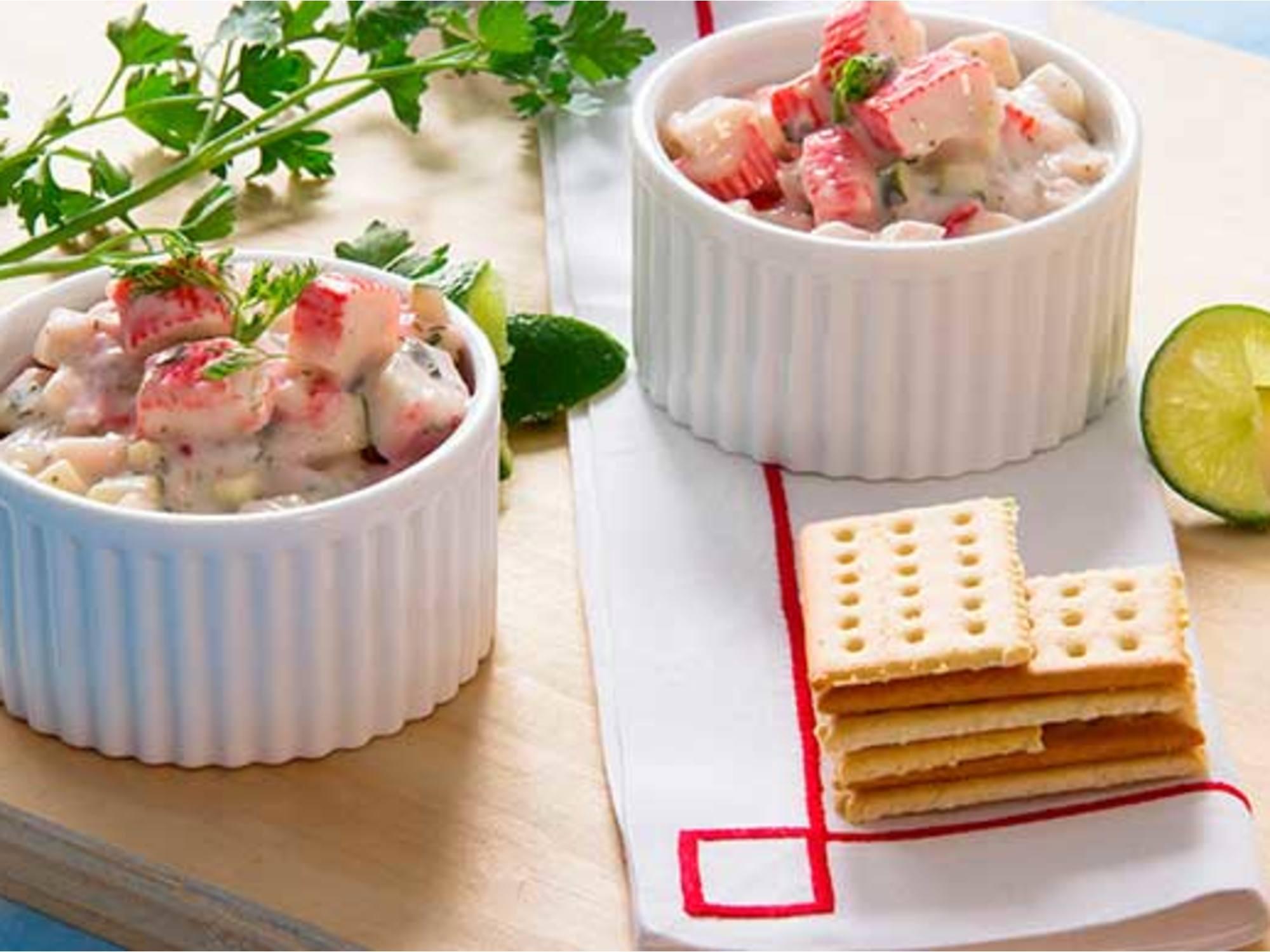 Cóctel Tártaro con Salsa tártara Fruco  y Salsa de ají Fruco