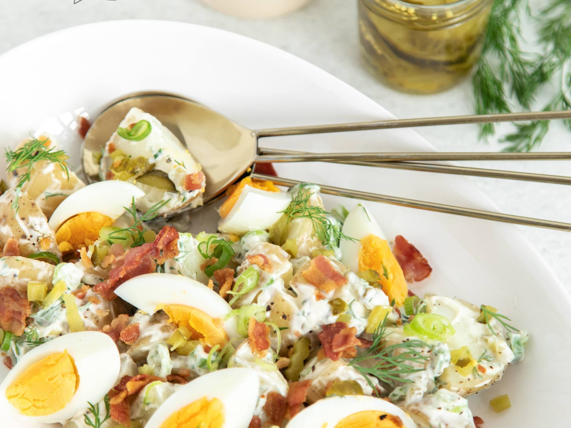 Vodafone Warrior Peta Hiku's 'All In' Potato Salad with Eggs & Gherkins