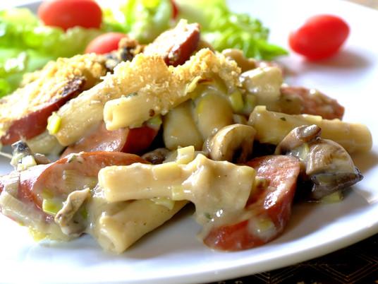 Chorizo mushroom pasta recipe