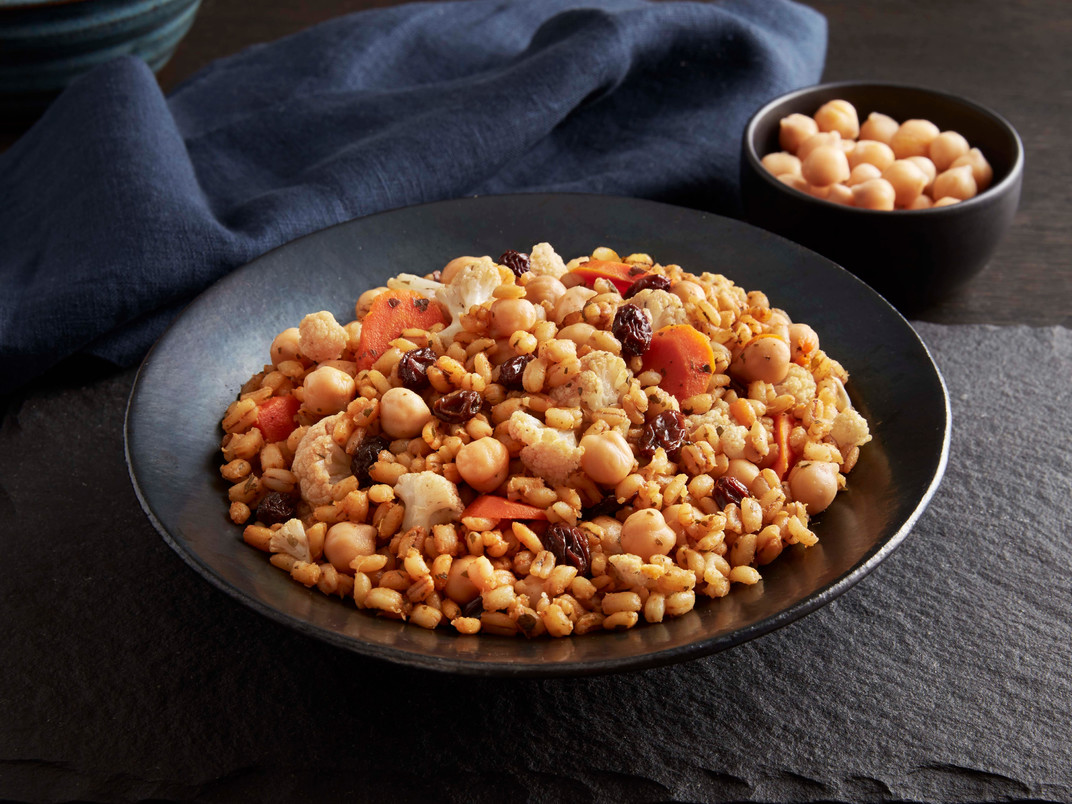 Garbanzos al estilo marroquí con cebada