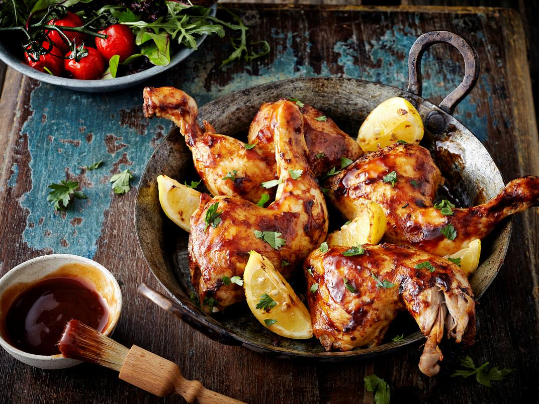 Gemarineerde kip op de BBQ