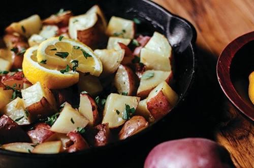 Pommes de terre au citron à la grecque