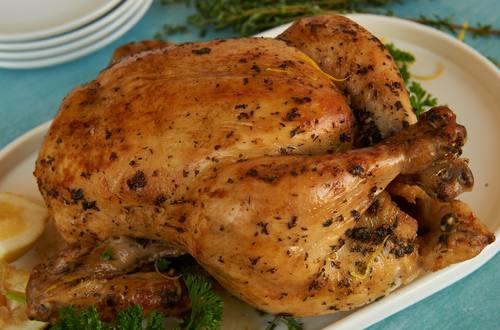 Pollo Asado Con Limon Y Hierbas