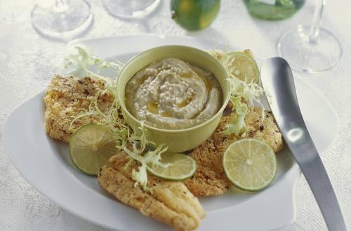 Knorr - Pfefferfisch mit Auberginenpüree