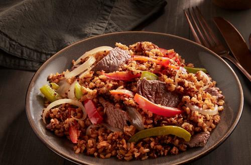 Steak & Peppers Brown Rice & Quinoa