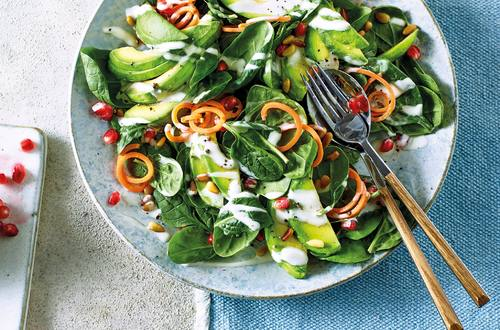 Avocado & Pomegranate Seed Salad