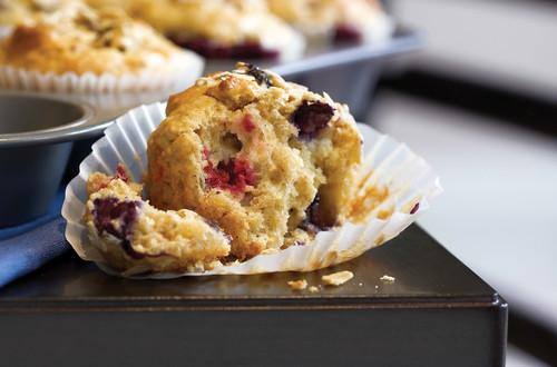 Muffins surprise à l'avoine et aux petits fruits