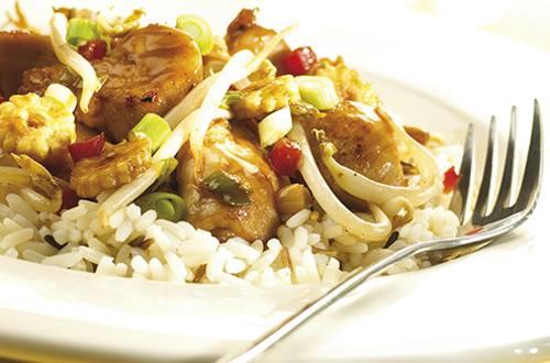 Poulet teriyaki aux légumes orientaux