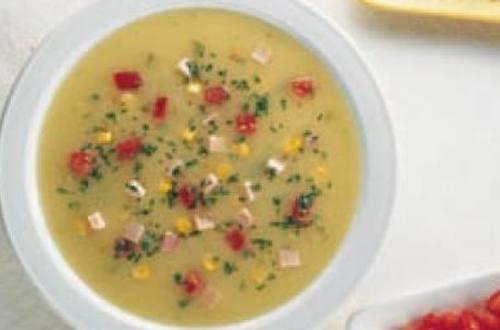 Sopa de verduras cremosa