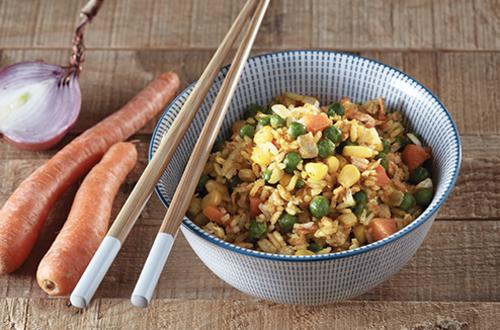 Ταϊλανδέζο ρύζι με λαχανικά & αυγό