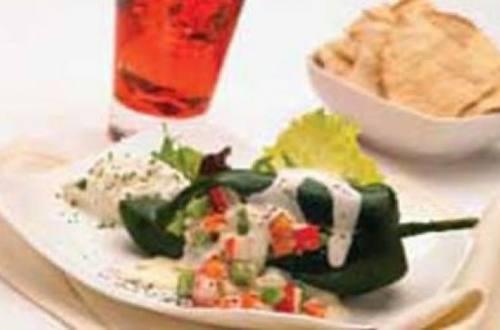 Chiles relleno de verduras y surimi
