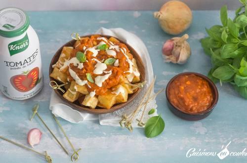 Patatas Bravas Soupe Knorr® « comme à la maison », Tomates pointe de basilic by Cuisinons en couleurs