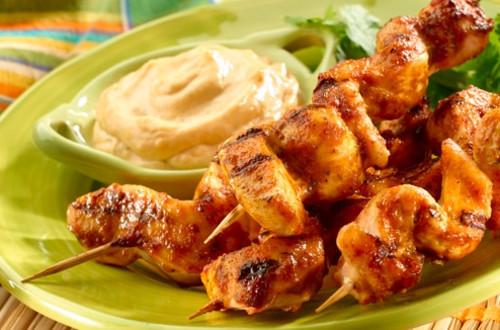 Tomato-Cilantro Chicken Skewers
