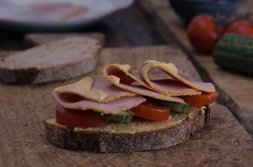Ham Mustard Sandwich