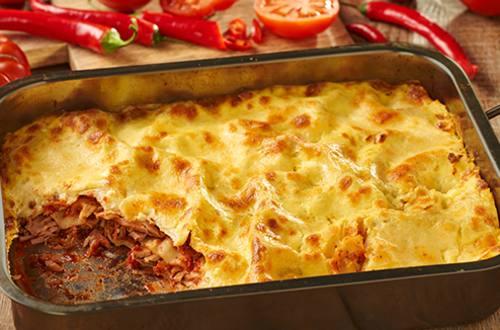 Pittige lasagne met tonijn