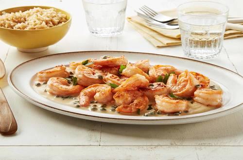 Crevettes crémeuses avec câpres