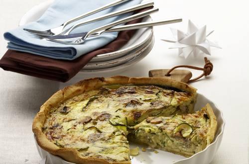 Pilz-Zucchini-Quiche