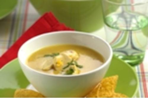 Mais-Curry-Suppe mit Huhn