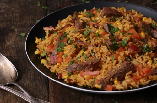 Mexican Steak & Salsa Rice