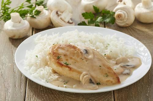 Filet de poulet aux champignons et à la crème