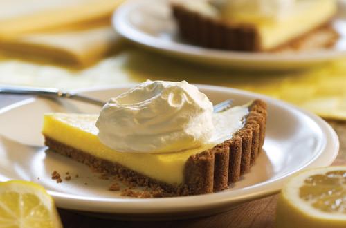Tarte veloutée et crémeuse au citron
