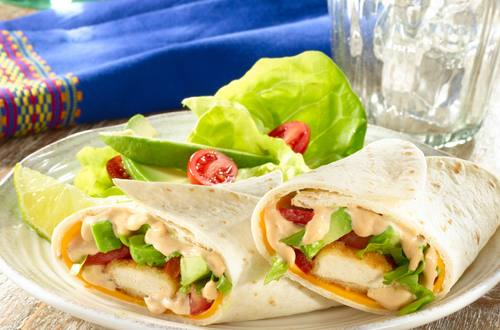 BBQ Chicken & Cheddar Wraps