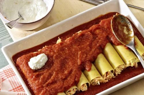 Knorr - Cannelloni mit Möhren-Quark-Füllung