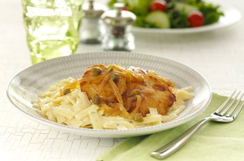 Poulet au Citron et Pâtes Parmesan