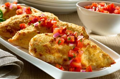 Parmesan Crusted Bruschetta Chicken
