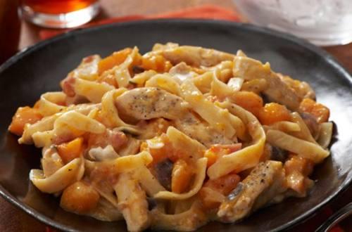 Chicken & Butternut Squash Alfredo