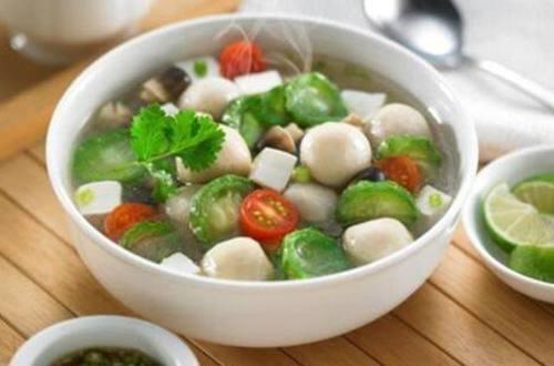 Sup Oyong Bakso Ikan