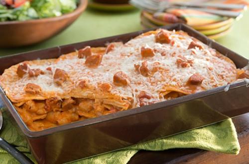Shrimp & Chorizo Enchiladas Rosa