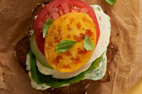 Triple Tomato Caprese Sandwiches
