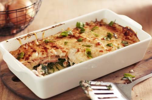 Spinat Lachs Lasagne Knorr