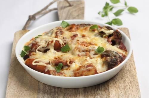 Gnocchi mit Champignons, Broccoli und Schinken