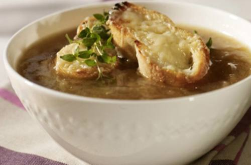 Soupe à l'oignon à la française