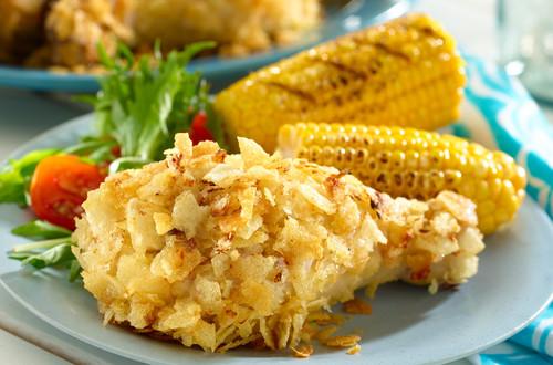 Crunchy Potato Chicken Legs