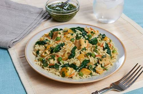 Vegetable & Tofu Rice with Chimichurri