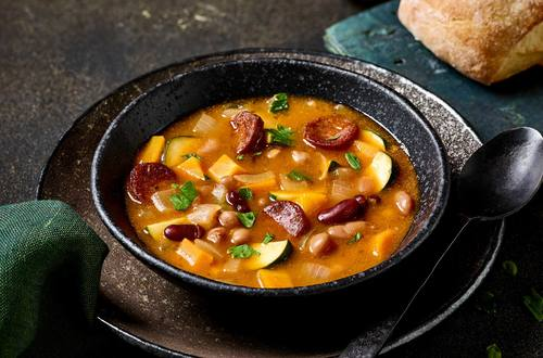Spanish Mixed Bean & Vegetable Soup