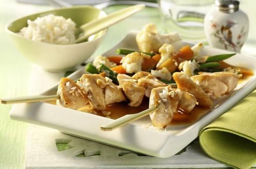 Knorr - Hähnchenspieße mit Asia-Gemüse