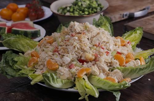 Hähnchen-Reis-Salat