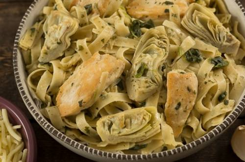 Chicken & Artichoke Spinach Pasta