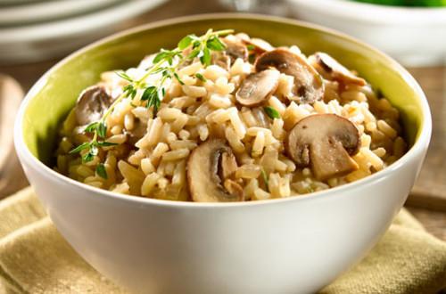 Savoury Mushroom Rice Pilaf