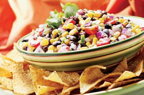 Salsa de alubias negras y maíz