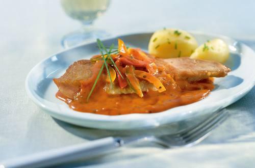 Pikante Schnitzel mit Paprika
