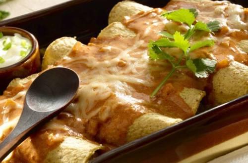 Enchiladas con Nopales