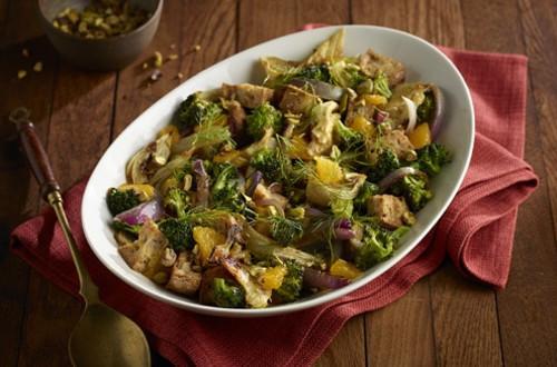 Roasted Vegetable Panzanella Salad