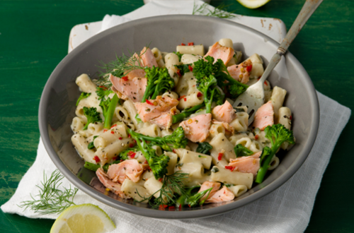 Salmon & Broccoli Pasta