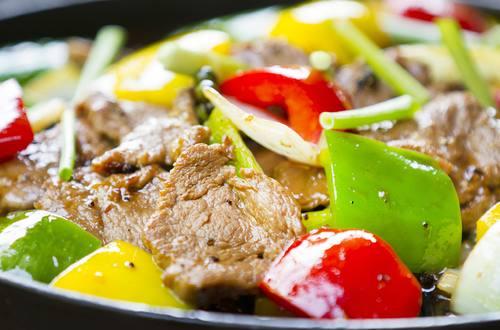 Thịt bò xào rau bí